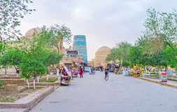 The parks in Khiva Royalty Free Stock Photos