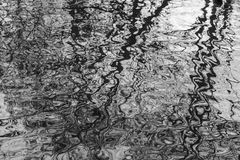 Parks of London - reflections in the watere. This image shows a view of one of the parks in London. It was taken on a gloomy day in January 2018. It focuses on Royalty Free Stock Photography
