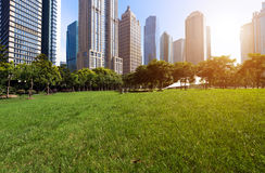 Parks and modern architecture Stock Images