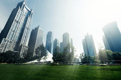 Parks and modern architecture Royalty Free Stock Photography