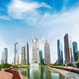 Parks and modern architecture Royalty Free Stock Photo