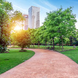 Parks and modern architecture Stock Image