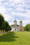 Parks Of Moscow. Noble estate Kuskovo. The Church. Royalty Free Stock Photo