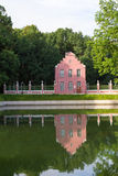 Parks Of Moscow. Noble estate Kuskovo. View of the pond and the Dutch pavilion Royalty Free Stock Photos