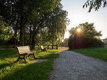 Parks. Park full of greenery in the suburbs of Milan, Cernusco sul Naviglio royalty free stock photography