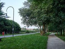 Parks. Park full of greenery in the suburbs of Milan, Cernusco sul Naviglio royalty free stock image