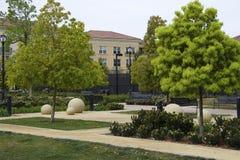 Parks, Rasen, runde Skulptur Stockfoto