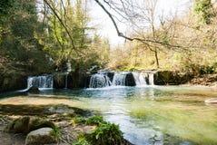 Parks von Veio Toskana Stockfotografie