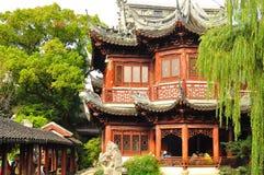 parkshanghai för porslin trädgårds- yu yuyuan yuan Kina Arkivfoton