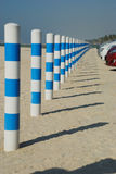 Parksperre eines Strandes Stockfotos