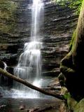 parktillståndsvattenfall royaltyfri fotografi