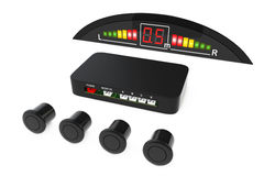 Parktronic Car System Kit. 3d Rendering. Parktronic Car System Kit on a white background. 3d Rendering Stock Photo