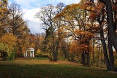 Parku de Podzim v Anglickém Foto de Stock Royalty Free