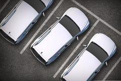 Parkujący samochody Od Above obraz royalty free