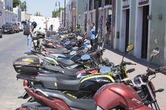 Parkujący motocykle w Meksyk Obraz Stock