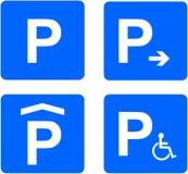 Parkuje znak Fotografia Royalty Free
