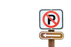 Parkverbot auf dem links Lizenzfreies Stockfoto