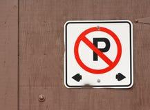 Parkverbotsschild Stockbilder