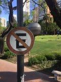 Parkverbotsschild in Buenos Aires Stockbild