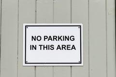 Parkverbotsschildbeitrag Lizenzfreies Stockfoto