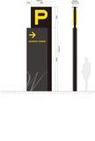 Parkverkehrszeichen auf weißem Hintergrund Lizenzfreies Stockbild