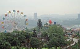 Parkvermaak met het grote wiel in Chongqing Stock Foto