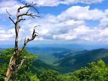 Parkway azul de Ridge Imagens de Stock Royalty Free