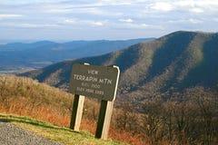 Parkway azul de Ridge da montanha da tartaruga de água doce imagem de stock