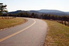 Parkway azul de Ridge em North Carolina Imagem de Stock