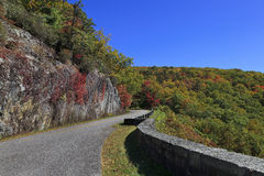Parkway Road. Blue Ridge Parkway road in the fall, part of the overlook Royalty Free Stock Photos