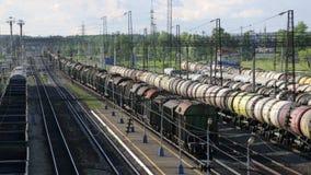 Parkweg-Bahnverladungsstation stock footage