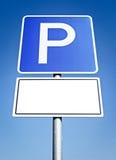 Parkzeichen stockfoto