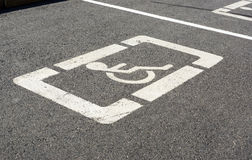 Parkzeichen für Behinderte Lizenzfreie Stockbilder