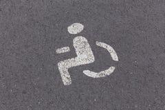 Parkzeichen für Behinderte lizenzfreie stockfotografie
