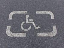 Parkzeichen für Behinderte stockfotografie