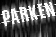 Parkzeichenzusammenfassung Lizenzfreies Stockbild