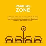 Parkzonen-Gelbhintergrund Vektor Stockfotos