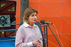 Parla di Marina Poroshenko Fotografia Stock Libera da Diritti
