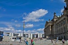 Parlaiment byggnad i Berlin Germany Arkivbilder