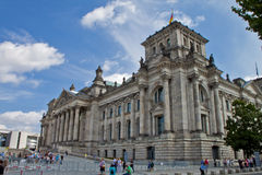 Parlaiment byggnad i Berlin Germany Fotografering för Bildbyråer