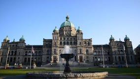 Parlament?w budynki przy Wiktoria BC Kanada zbiory wideo