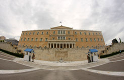 Parlament in Athen lizenzfreie stockbilder