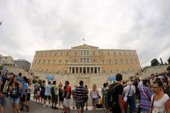 Parlament in Athen lizenzfreie stockfotos