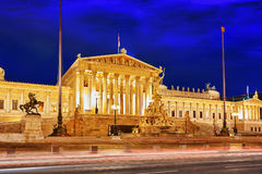 Parlament of Austria, in central of Vienna. Royalty Free Stock Image