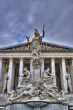 Parlament av Österrike, Wien Arkivbilder
