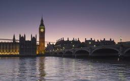 Parlament bei Sonnenuntergang Stockfotografie