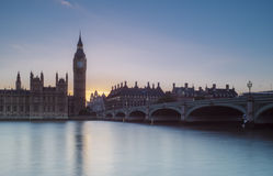 Parlament bei Sonnenuntergang Stockbilder