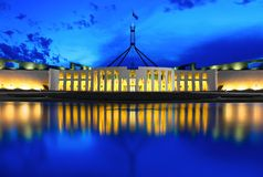 Parlament- & blåtttimme Arkivbild