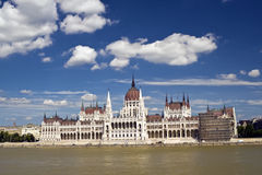 Parlament in Budapest. Budapest on the Danube before the parliament building royalty free stock photography