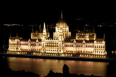 Parlament in Budapest Stockbilder